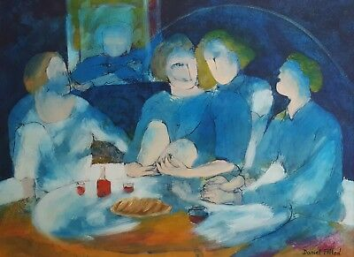 Original Painting, French Oil Painting, Table Scene , Daniel Fillod (1935)