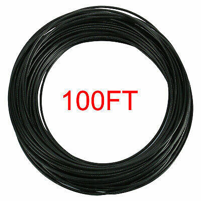 Black Vinyl Coated Wire Rope Cable 7x7 Strand Core 100FT Coil 304 Stainless