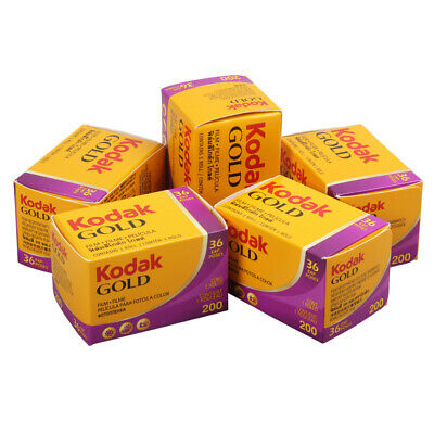 5 Rolls Kodak Gold Color Print Negative Film 200 ISO 35mm 36exp Freshest 06/2020
