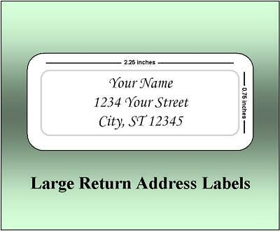 150 Large Return Address Labels. 2.25 x 0.75 Inches. Ships Free.