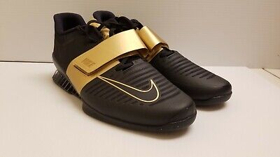 af90594e0d49b Nike Romaleos 3 X Black Gold Men's Weightlifting Shoes AH6868-077 Size 12