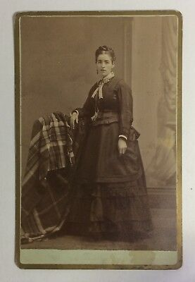 Full-length Portrait of a Woman by Ryder, Syracuse, NY - Antique Cabinet Card
