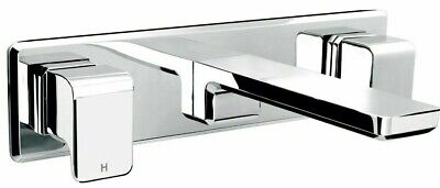 Methven KIRI WALL BASIN/SINK SET WITH PLASTIC PLATE Chrome