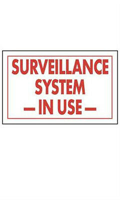 Surveillance System In Use Policy Sign Card 11 W x 7 H Inches - Case of 10