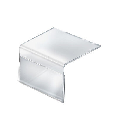 Acrylic Shelf Sign Holder in Clear 8.5W x 5.5H x 8D Inches - Case of 10