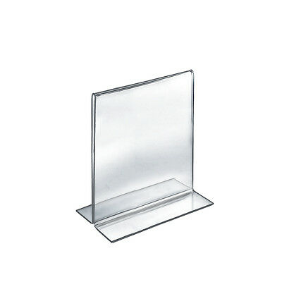 Acrylic Clear 2 Sided Sign Holder 8W x 10H Inches - Pack of 10