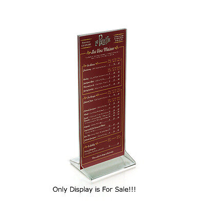 Acrylic Clear Top Load Sign Holder 4.25W x 11H Inches - Case of 10