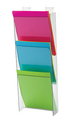 3-Tier Brochure or Magazine Holder 23 ¾ H 9¼ W 3 D Inches