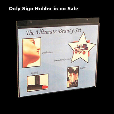 Clear Acrylic Horizontal Wall Mount Sign Holder 14W x 11H Inches- Box of 10
