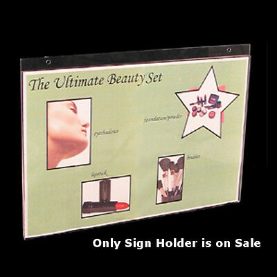 Clear Acrylic Horizontal Wall Mount Sign Holder 17W x 11H Inches- Count of 10