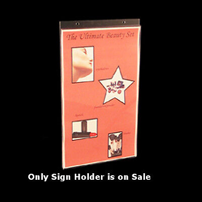 Clear Acrylic Vertical Wall Mount Sign Holder 8.5W x 14H Inches- Case of 10