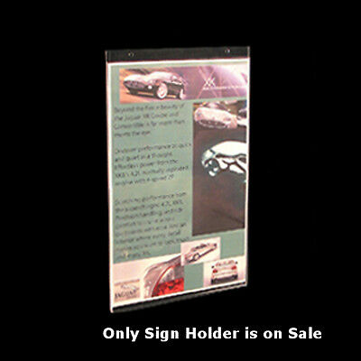 Clear Acrylic Vertical Wall Mount Sign Holder 11W x 17H Inches- Lot of 10
