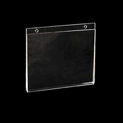 Clear Acrylic Horizontal Wall Mount Sign Holder 8.5W x 5.5H Inches- Count of 10