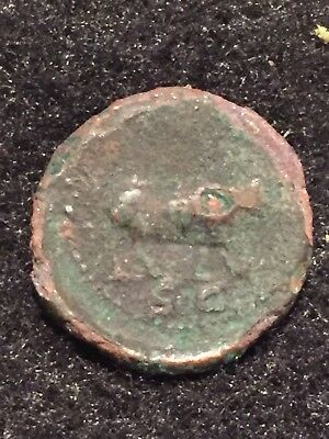 Ancient Roman Coins, Quadrans Of Trajan 98-117 AD, Wolf Walking Right, Rome Mint