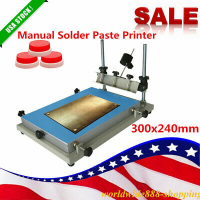 High Precision Manual Solder Paste stencil Printer SMT pcb Printing Machine