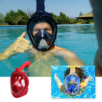 Anti-Fog Swimming Diving Full Face Mask Surface Snorkel Scuba For Adult/Kids