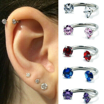 1PC Lovely Piercing Nose Lip Ear Septum Cartilage Captive Hoop Ring Jewelry Gift