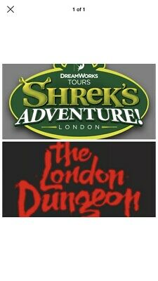 Shrek's Adventure! London OR the London Dungeon Booking Code For 2 Tickets