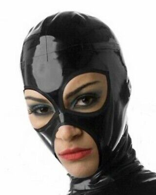 Sexy Latex Mask Rubber Unisex Hood Gummi 0.4mm for Club Wear Unique for catsuit