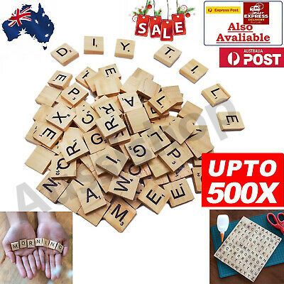 3Packs Wooden Letters Alphabet Scrabble Tiles Letters & Numbers For Game &Crafts
