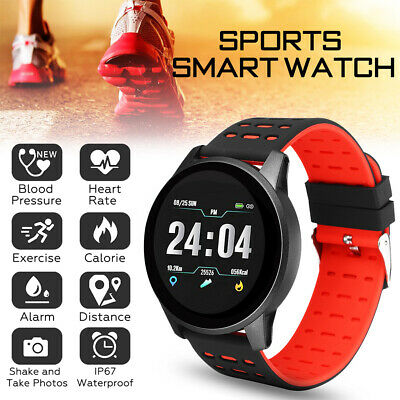 Waterproof Sports SmartWatch Blood Pressure Heart Rate Monitor for iOS Android