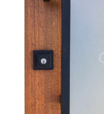 Square Entrance Door Lock  Dead Bolt Matt Or Satin Black
