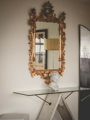 Stunning French ornate mirror Provincial Louis XVI European Period Regency Style