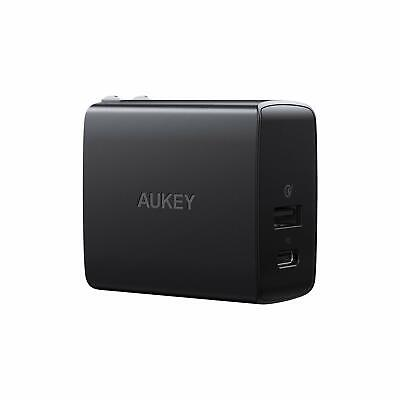 USB C Charger with Power Delivery & Quick Charge 3.0 Ports, 18W USB Wall Charger