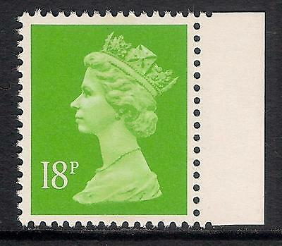 GB 1992 sg X1011 18p Bright Green litho centre band booklet stamp MNH