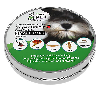 Natural Flea Collar for Small Dogs | Prevent and Control Fleas, Ticks, Lice and
