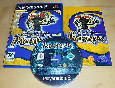 Sony Playstation 2 Game * PSYCHONAUTS * Complete PS2 Retro Rare Great Disc