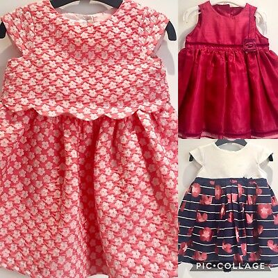 Baby Girls Dress Bundle JASPER CONRAN M&S Party Pink Floral Christening 6-12 M