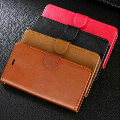 Huawei P20 & Pro Lite Leather Flip Card Holder Wallet Hard Protective Case Cover