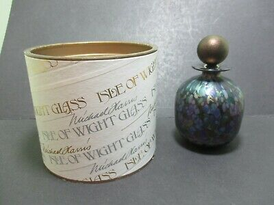 Isle Of Wight Glass Iridescent  Scent / Perfume Bottle
