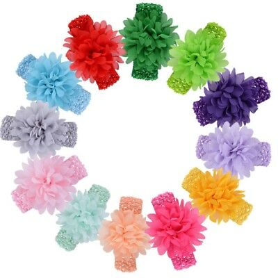 Newborn Baby Girl Toddler Flower Headband Hair Bands Accessory Headwear 16Colors