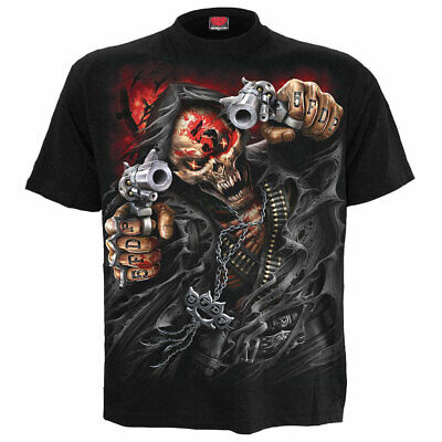 Five Finger Death Punch - Assassin - Men's Black T-Shirt (Size L) - Gothic,Goth