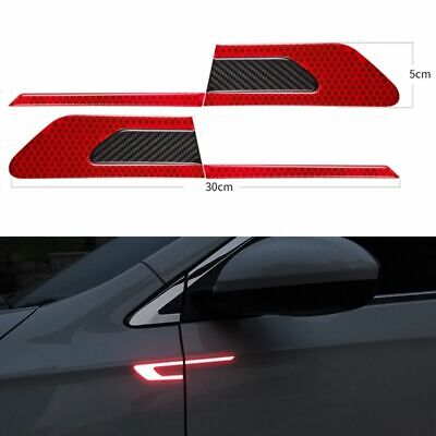 2Pcs/Set Car Reflective Safety Warning Strip Tape Car Bumper Reflective Strips S