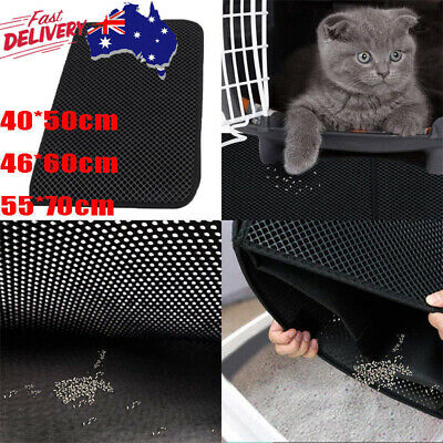AU Waterproof Double-Layer Cat Litter Mat Trapper Foldable Pad Rug Home Comfort