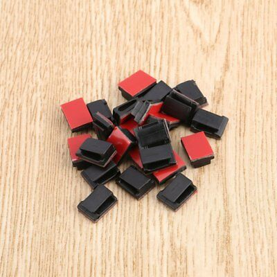 100 pcs Adhesive Cable Clips Wire Clamps Car Cable Organizer Cord Tie Holder bm