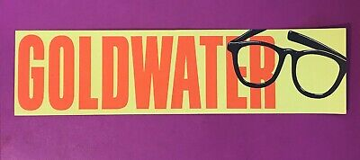 Very Rare Vintage Barry Goldwater Political Campaign Bumper Sticker