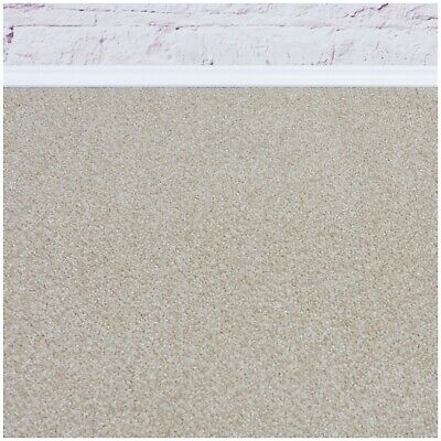 HARDWEARING Cream Felt Back Twist Pile 5m Wide Carpet £6.49m²