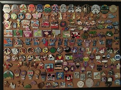 Disney pin lot LE, cast exclusive, rare, completed sets w/binder