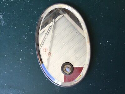Small Antique Mirrored Wall Mounted Lamp Back Reflector