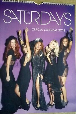 The Saturdays A3 Official Wall Calendar 2014 Used