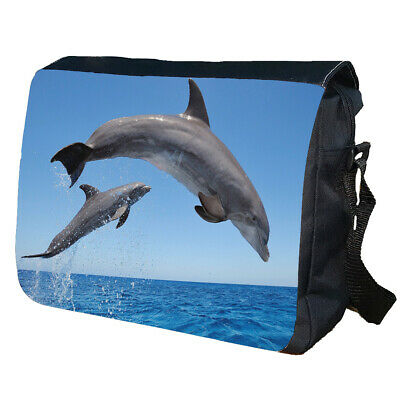 Dolphins Jumping Personalised School Shoulder Messenger Bag