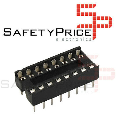 5x Zocalo integrado 16 PINs DIP 16 Socket doble contacto