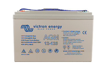 Victron Energie 12V/12,5Ah AGM Super Cycle Batteries. (Faston 6.3x0.8mm
