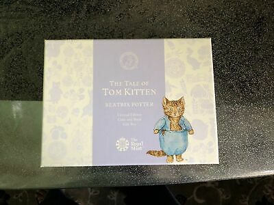 UK Royal Mint 2017 Silver Proof & Enamel Beatrix Potter Tom Kitten 50p book set