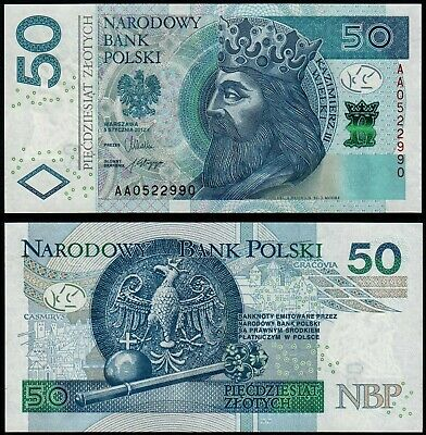 POLAND 50 ZLOTYCH (P185a) 2012 UNC