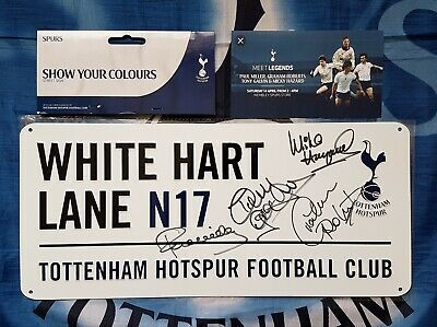 TOTTENHAM HOTSPUR 3D Sign Signed x4 Tony GALVIN Hazard ROBERTS Paul Miller Proof